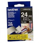 Brother etykiety 24 mm. x 8 m. TZ-355, TZ355, TZE-355, TZE355