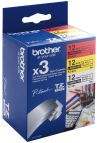 Brother 3 x etykiety 12 mm. x 8 m. TZ-31M3, TZ31M3 (TZE-231+TZE-431+TZE-631)