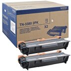 Brother 2 x toner Black TN-3380, TN3380
